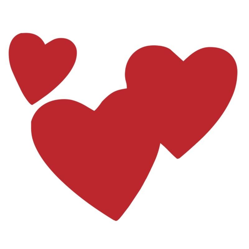 LV108 - Three Hearts | Kiss Cakes