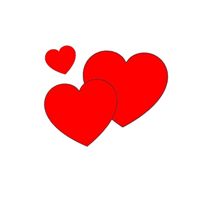 3 Hearts Kiss Cakes