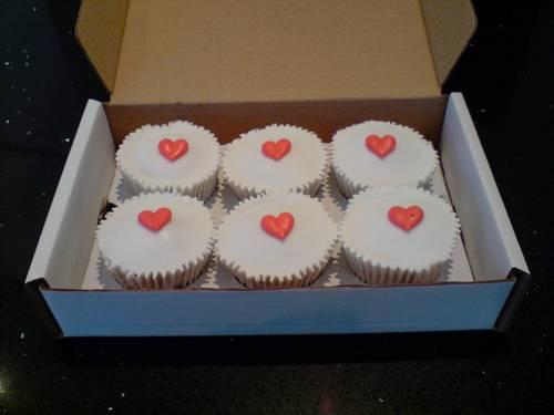 12 Love Heart Cupcakes - £18.95