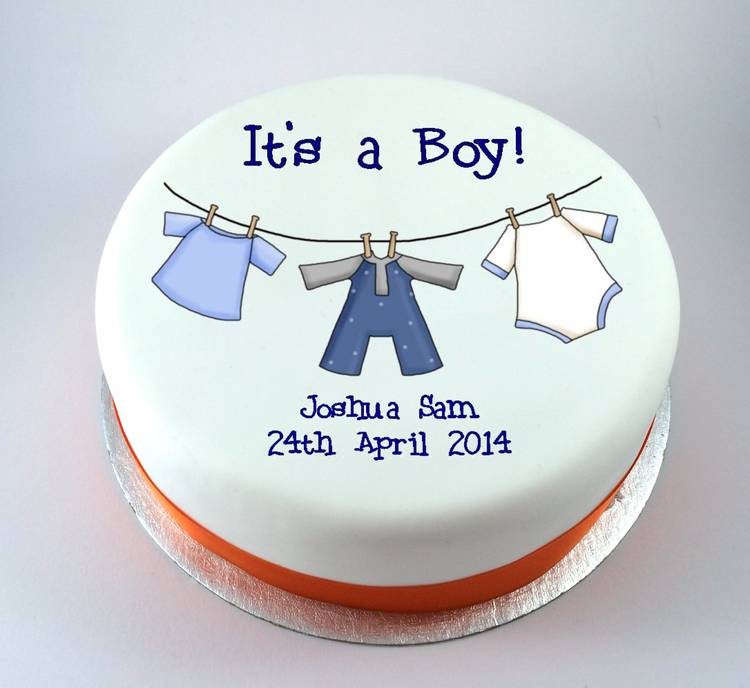 Baby Boy Clothes Line Kiss Cakes