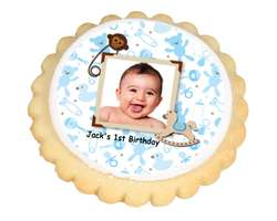 Baby Boy Photo Cookies