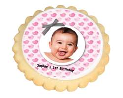 Baby Girl Photo Cookies