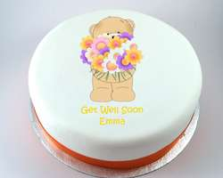 Bear with Flowers Cake