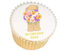 Bear With Flowers Cupcakes