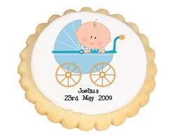 Blue Baby Carriage Cookies