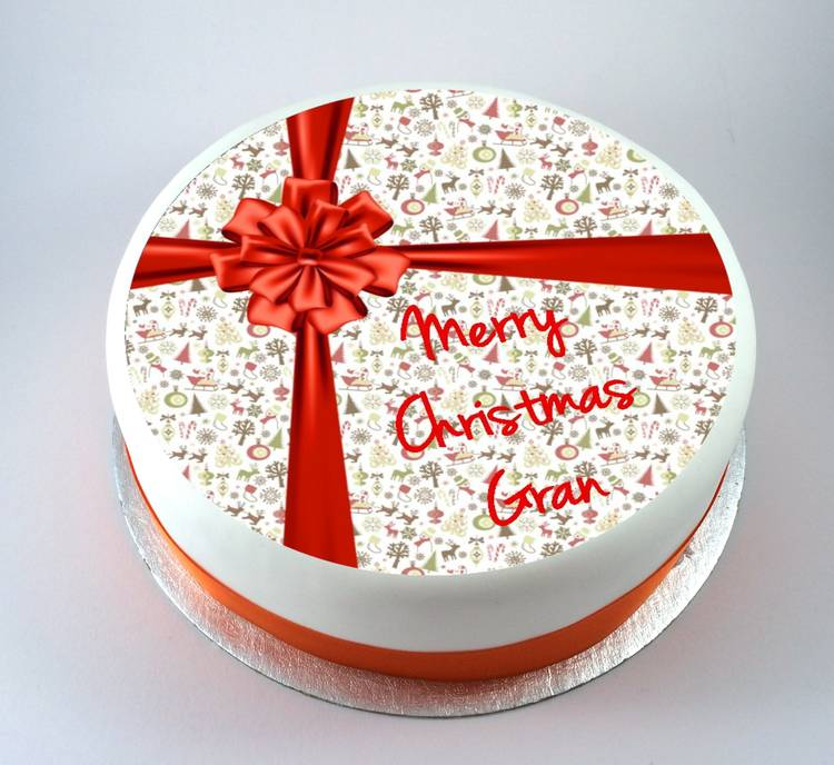 Christmas gift cake kiss cakes for Christmas cake gift