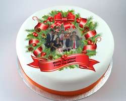 Christmas Wreath Photo Cake