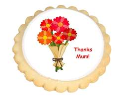 Thank You Flowers Cookies