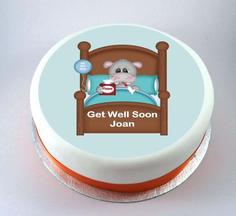 Get Well Hippo Cake Kiss Cakes