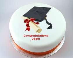 Graduation Hat & Scroll Cake