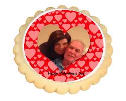 Heart Frame Photo Cookies