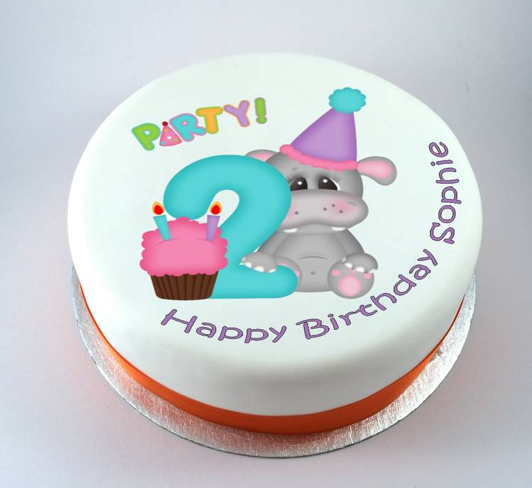 Hippo Age Cake Kiss Cakes