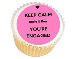 Keep Calm Engaged Cupcakes