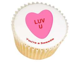 Love Heart Sweetie Cupcakes - from £11.95