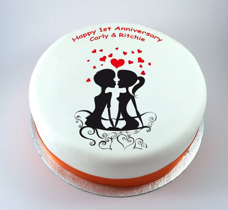 Loving Couple Cake Kiss Cakes
