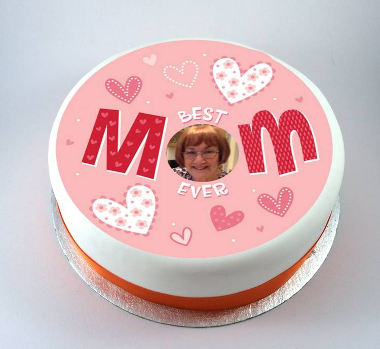Best Cake Designs For Mother : Mothers Day Best Mom Ever Photo Cake Kiss Cakes