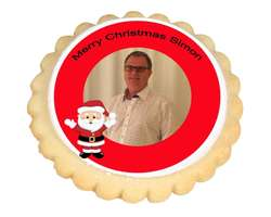 Photo Cookies - Santa Frame