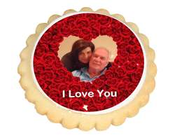 Roses Frame Photo Cookies