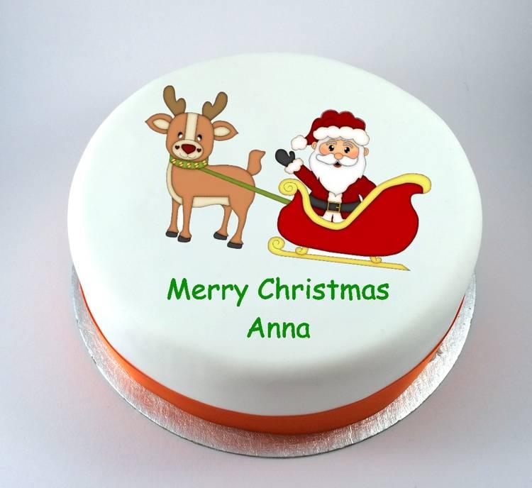 Santa Amp Reindeer Cake Kiss Cakes