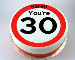 Speed Limit Age Cake