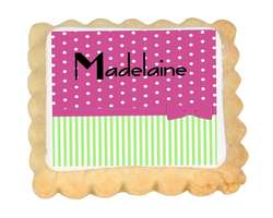 Spots and Stripes Place Card Cookies - from £15.95