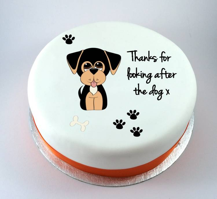 Cute Dog Cake Kiss Cakes