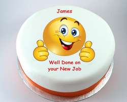 Thumbs up Smiley Cake - from £9.95
