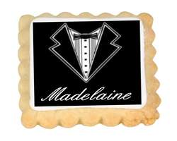 Tuxedo Place Card Cookies