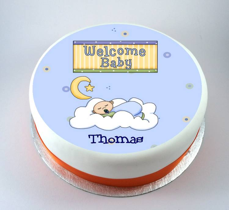 Welcome Baby Cake Kiss Cakes